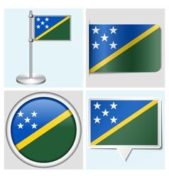 Solomon Islands flag - sticker button label vector