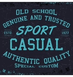Sport casual print vector image