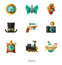 Steampunk elements vector image