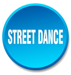 Street dance blue round flat isolated push button vector