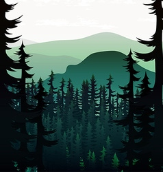 Summer nature landscape on background of mountains vector image