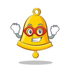 Super hero school bell character cartoon vector