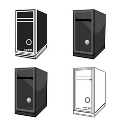 System unit icon in cartoon style isolated on vector