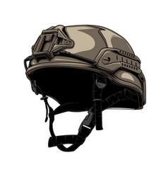 Tactical helmet vector