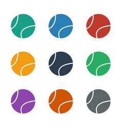 Tennis ball icon white background vector