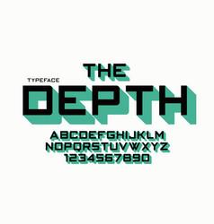 the depth decorative font design alphabet vector image