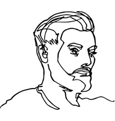 The head of a man with a beard vector