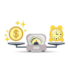 time is money balance scales vector image
