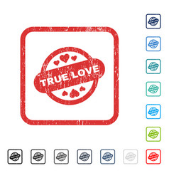 True love stamp seal icon rubber watermark vector
