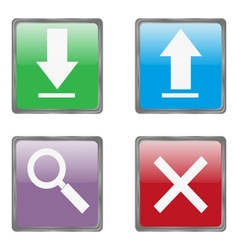 Useful internet buttons vector image
