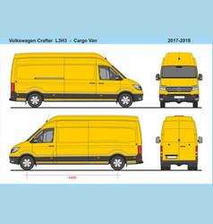 Volkswagen crafter cargo van l3h3 2017-2018 vector