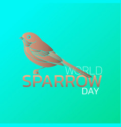 world sparrow day logo icon design vector image