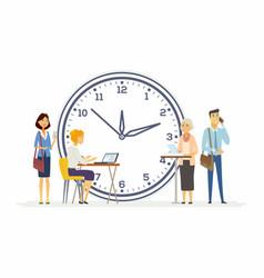 Time management for business - modern cartoon vector