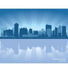 Winnipeg Canada skyline vector image