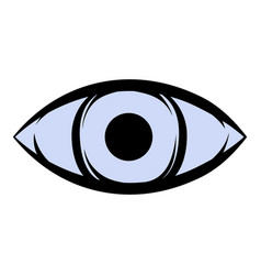 all-seeing eye icon cartoon vector image