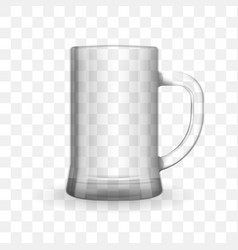 beer transparent glass vector image