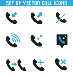 Set of call icons vector image vector image