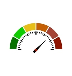 Speedometer or rating meter signs infographic vector image
