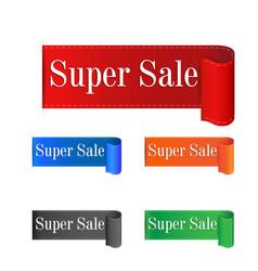 Super sale sticker label on white background vector