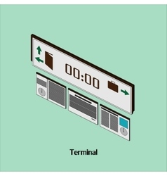 With time to the airport or train station terminal vector image