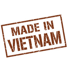 made in vietnam stamp vector image vector image