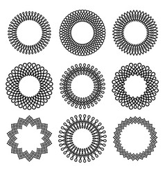 set of round twisted frame 1 vector image