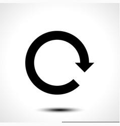 black arrow icon reload refresh rotation reset vector image