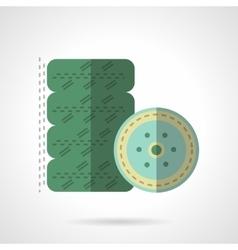 Car wheel flat color icon vector image