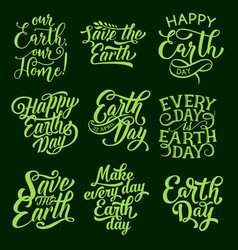 earth day symbol for ecology holiday design vector image vector image