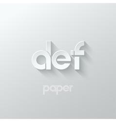 letter D E F logo alphabet icon paper set vector image