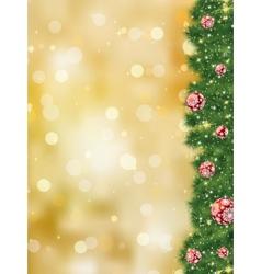 Thank you card a bright christmas EPS 8 vector image vector image