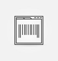 webpage with barcode concept icon in thin line vector image