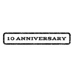 10 anniversary watermark stamp vector image