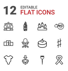 12 one icons vector
