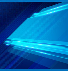 abstract technology geometric blue color shiny vector image