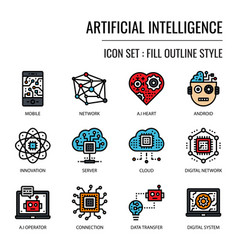 artificial intelligence vector image