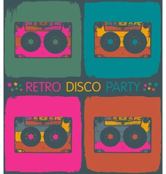 audio cassette popart background vector image
