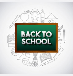 Back to school with set supplies vector
