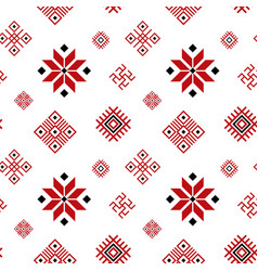 belarus ornament seamless pattern background vector image