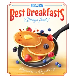 Best Breakfasts Vintage Advertisement Poster vector image