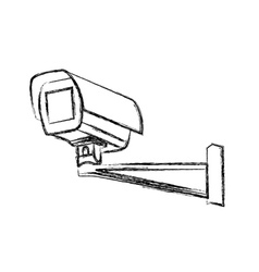 Black and White Surveillance Camera CCTV vector image