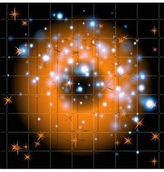Black orange with star background vector