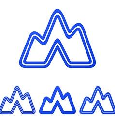 Blue line expedition logo design set vector