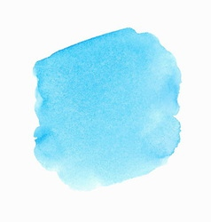 Bright blue watercolor spot vector