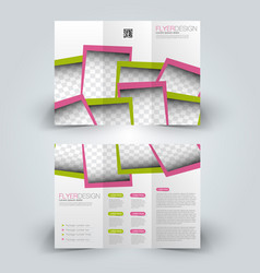 brochure design template vector image