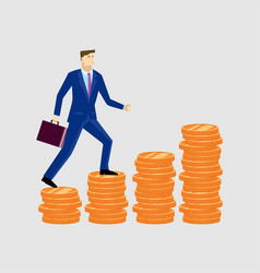 Businessman up the money vector