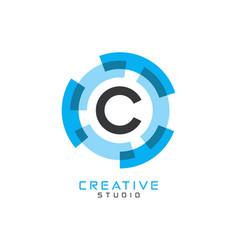 C letter logo icon vector