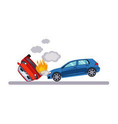 car and transportation situation vector image