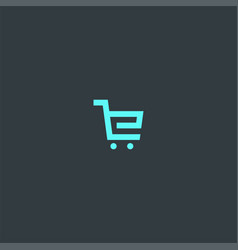 cart or letter e symbol design vector image