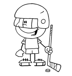 Cartoon hockey player vector image